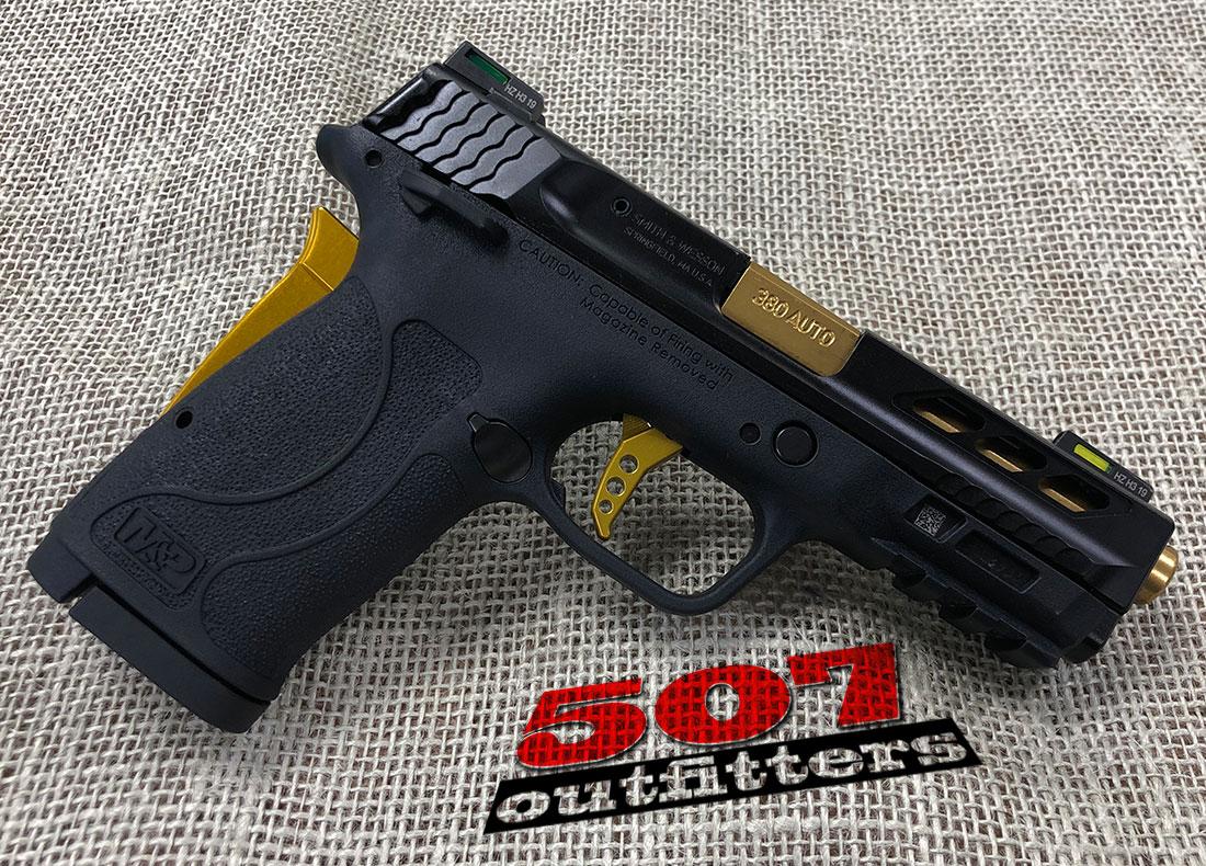 Smith & Wesson M&P 380 Shield EZ Performance Center Gold