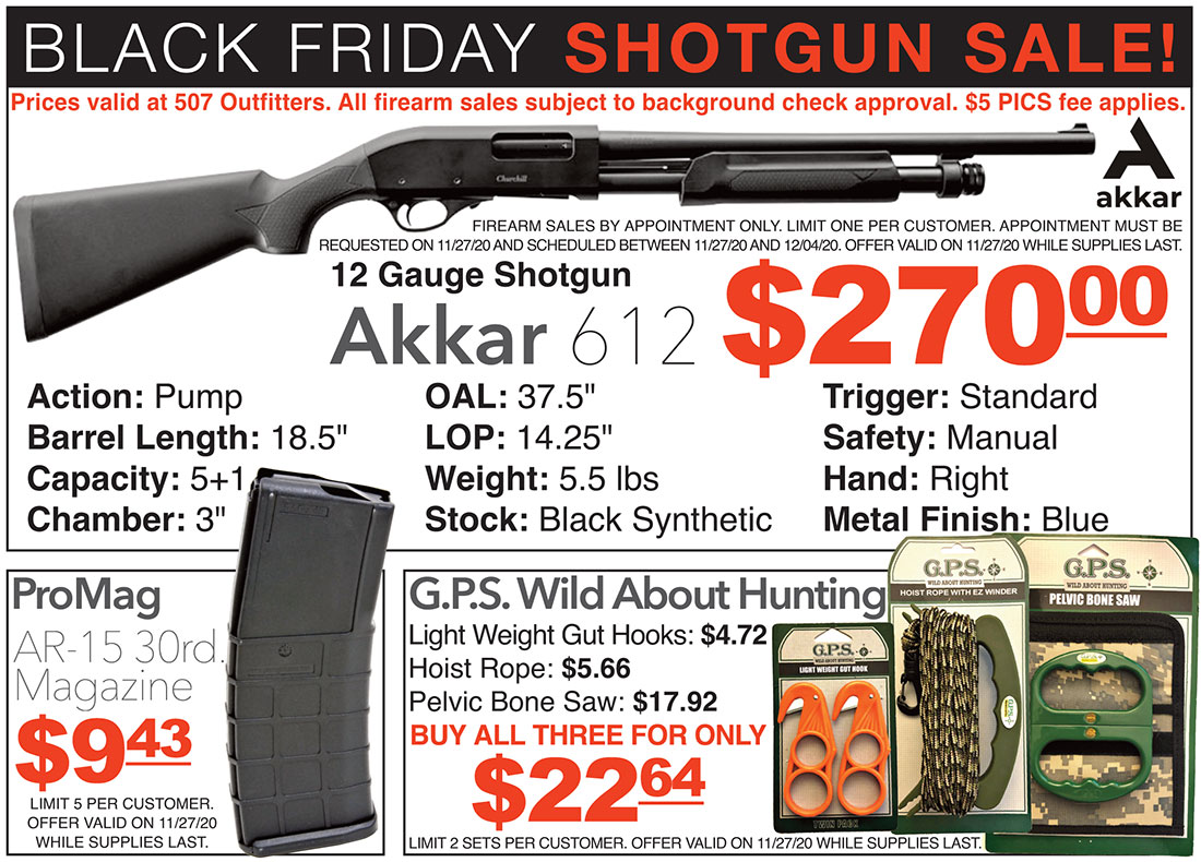 Black Friday Shotgun Sale at 507 Outfitters