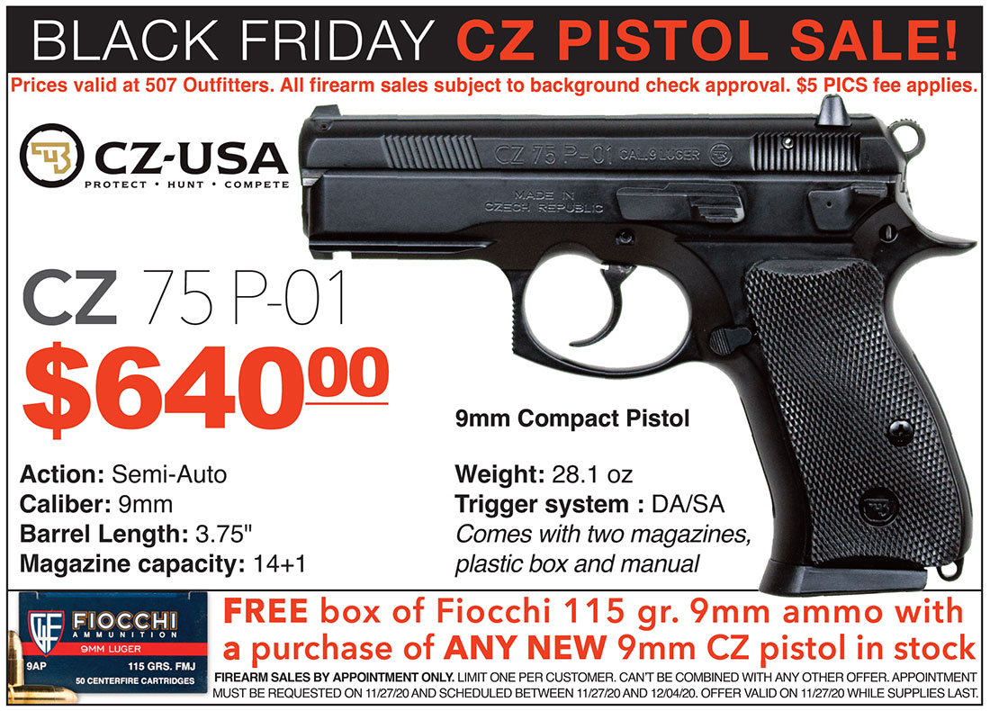Black Friday CZ Sale at 507 Outfitters