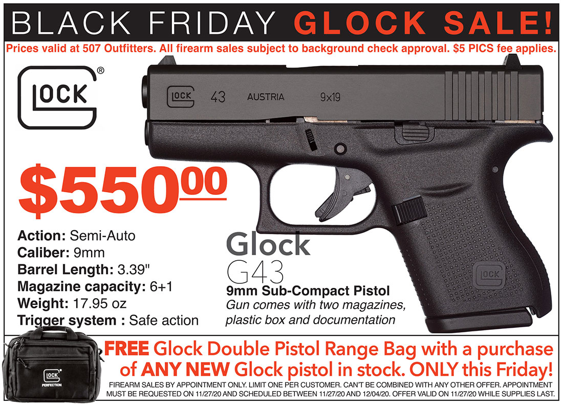 Black Friday Glock Sale at 507 Outfitters