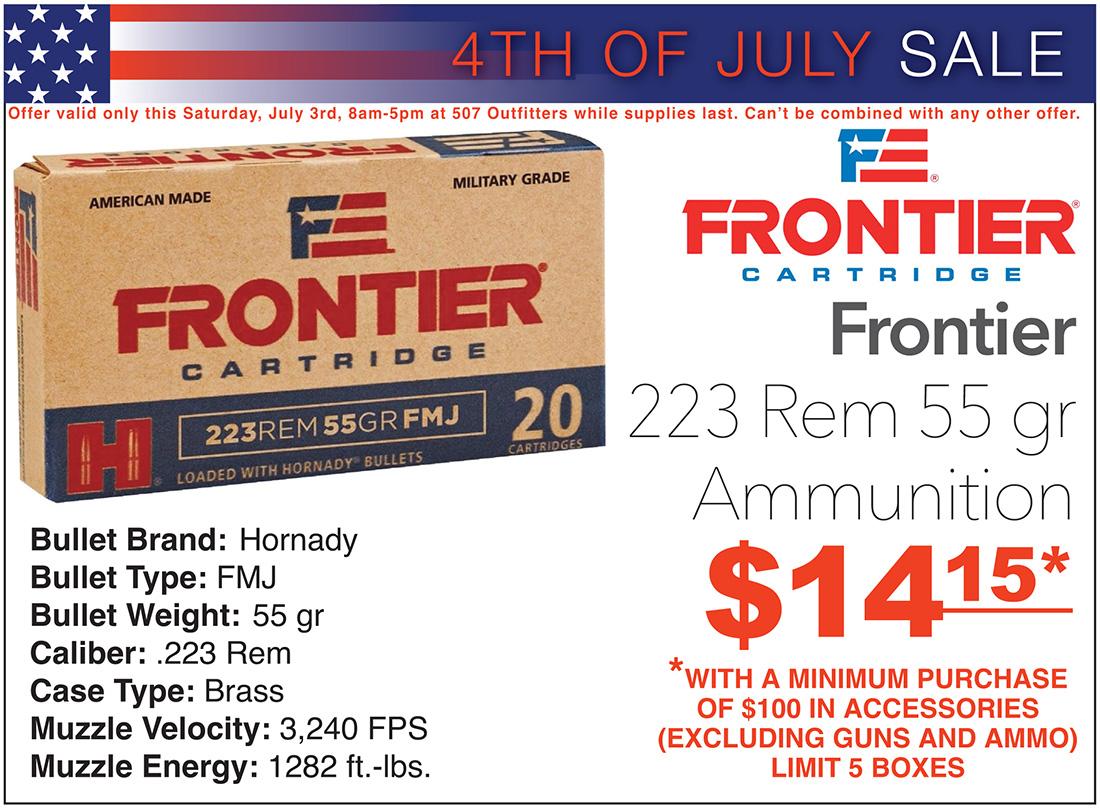 Frontier 223 Rem Ammo Sale