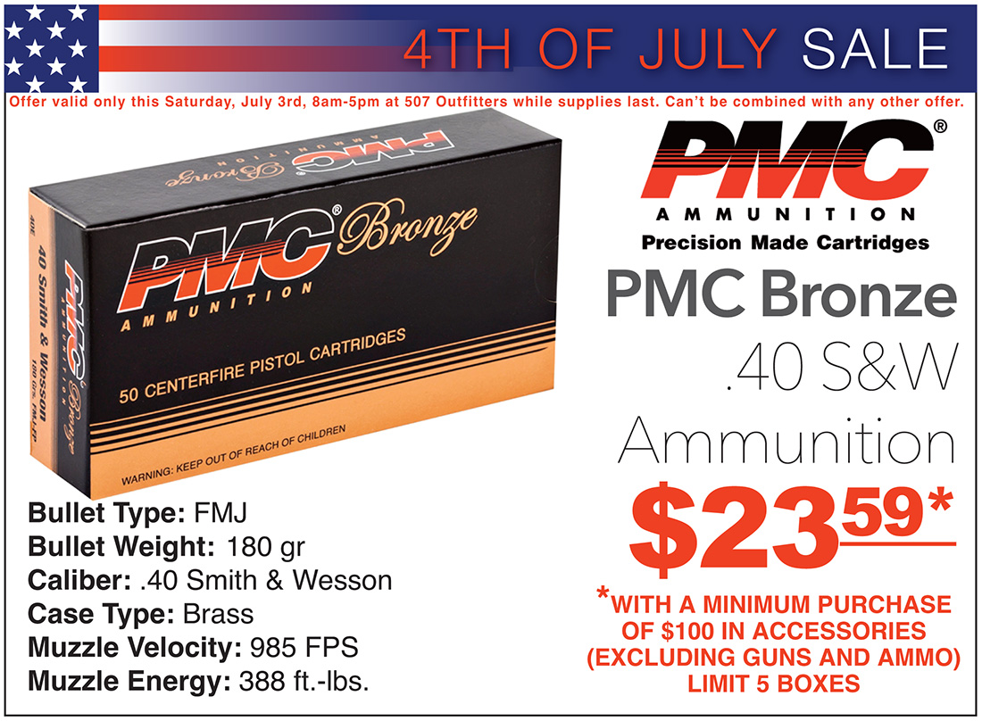 PMC Bronze 40S&W on sale at 507 Outfitters