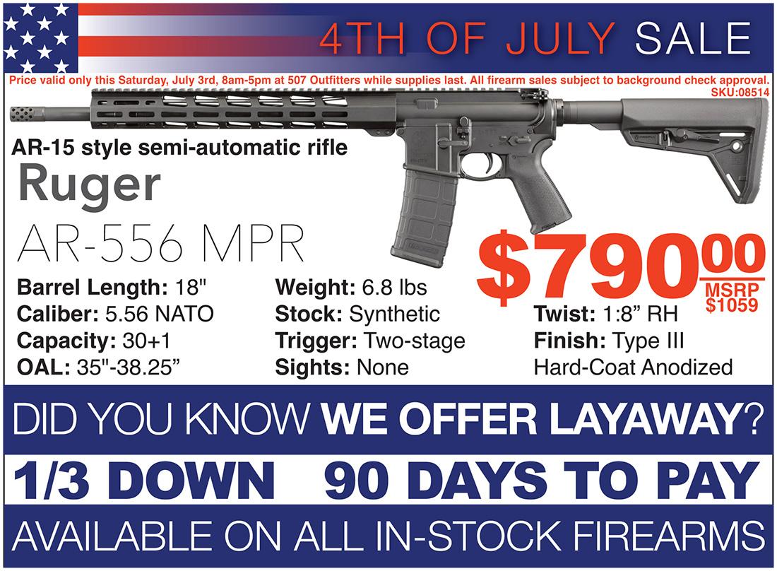 Ruger AR-556 MPR Sale